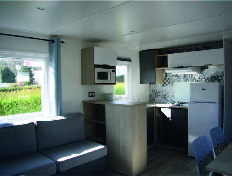 mobil-home deluxe interieur camping bellevue
